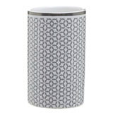 grey Geo Toothbrush Holder