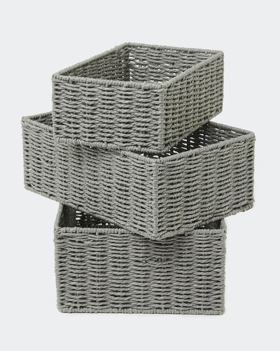 Paper Weave Baskets