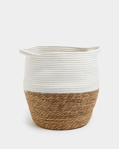 Round Rope Belly Basket