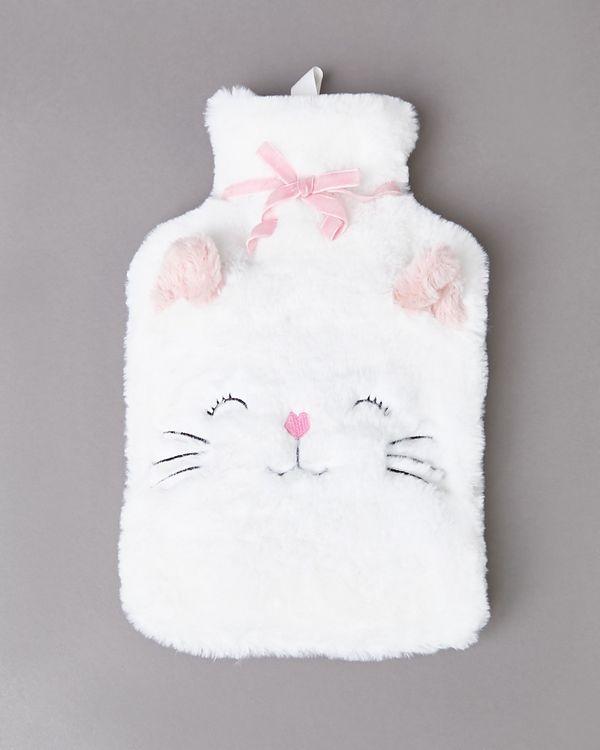 Cat Applique Hot Water Bottle