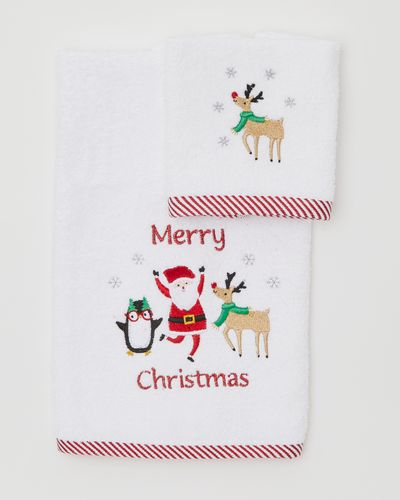 Santa And Friends Face Cloth