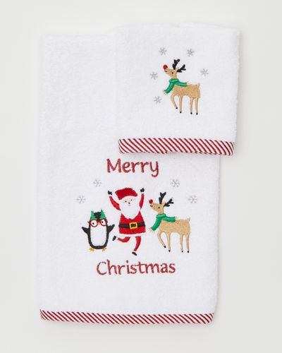 Santa And Friends Hand Towel