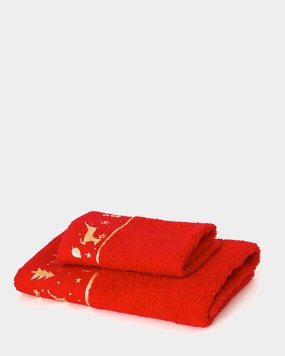 Red Christmas Face Cloth