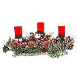 red Three Tealight Centrepiece