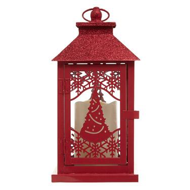 redGlitter Roof LED Lantern
