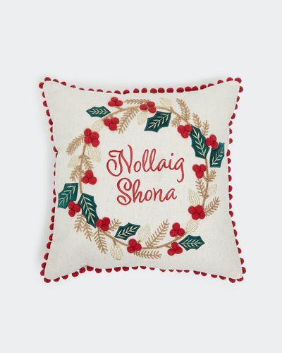 Nollaig Shona Wreath Cushion
