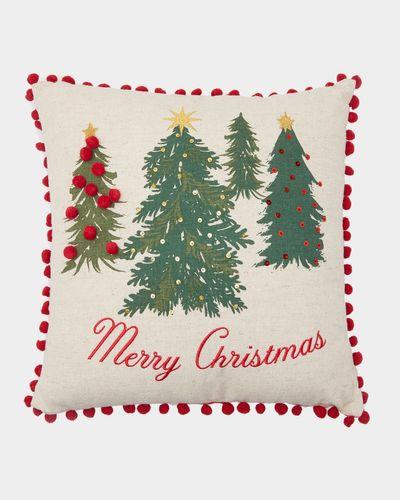 Merry Christmas Trees Cushion