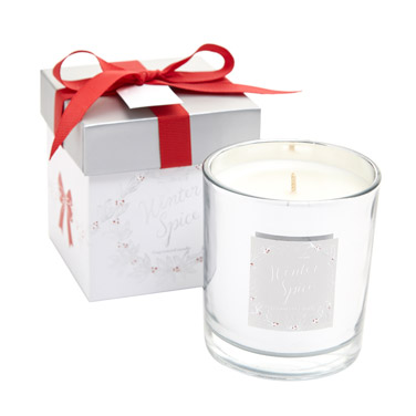 whiteFestive Box Candle