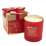 red Festive Box Candle