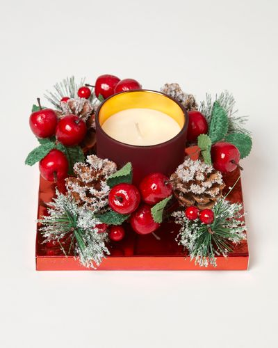 Noel Box Wreath Candle