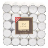 white-1 Tealight - 100 Pack