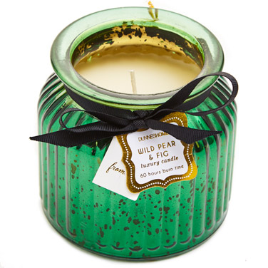 greenRibbed Scented Candle Jar