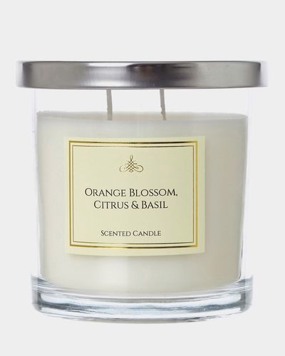 Orange Blossom,  Citrus And Basil Two Wick Scented Candle