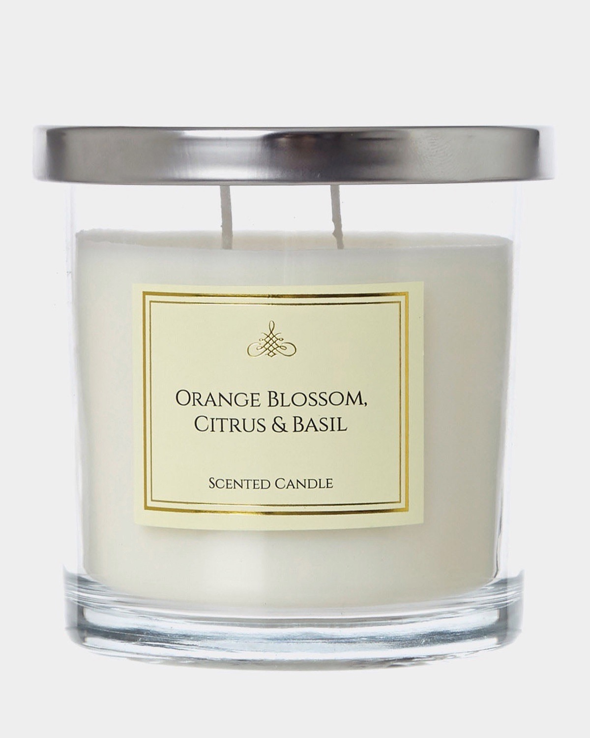 Dunnes Stores Lime Orange Blossom Citrus And Basil Two Wick Scented Candle