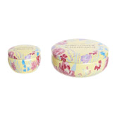yellow Floral Candle Tin