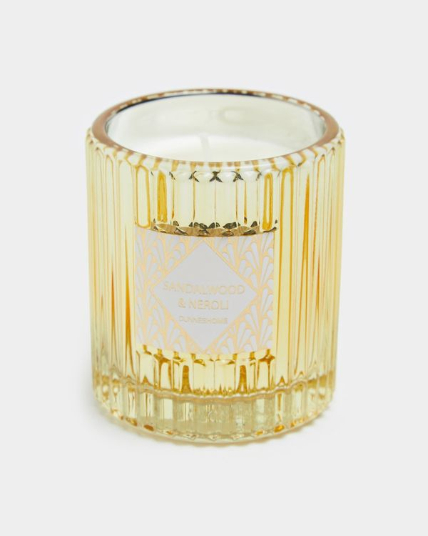 Ribbed Glass Jar Scented Candle