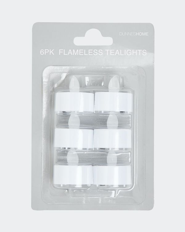 Flameless Tealights - Pack Of 6