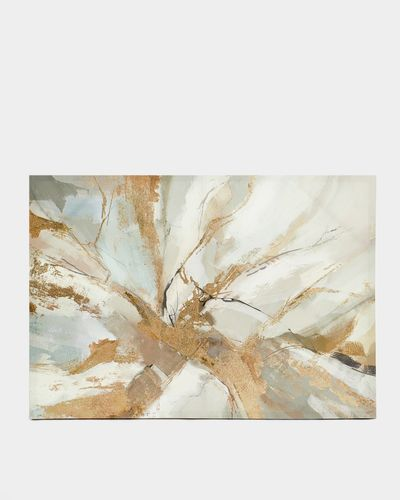 Abstract Canvas With Foil