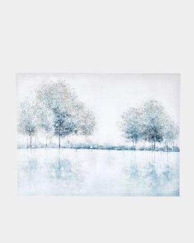 Trees In Field Canvas