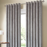 grey Velour Curtains