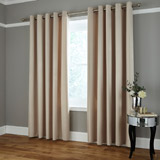 ivory Thermal Lined Stripe Curtain