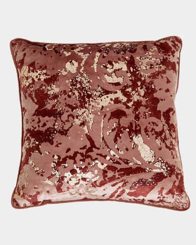 Abstract Baroque Foil Cushion