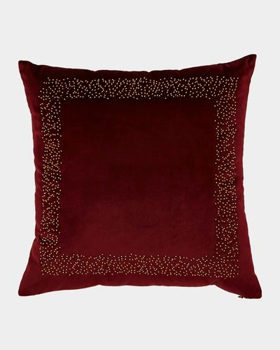 Beaded Velvet Cushion