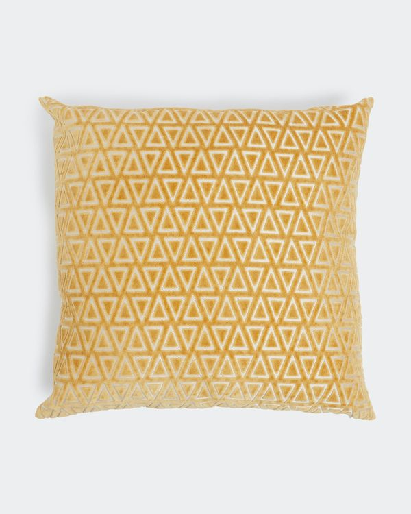 Diamond Cut Velvet Cushion