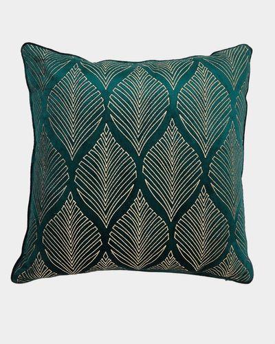 Embroidered Leaf Cushion