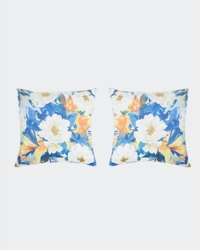 Print Velvet Cushion Cover - Pack of 2