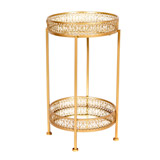 gold Venice Side Table