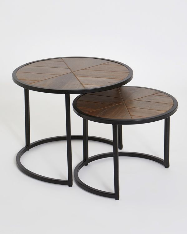 Peachy Nest Of Coffee Tables Set Of 2 Beatyapartments Chair Design Images Beatyapartmentscom