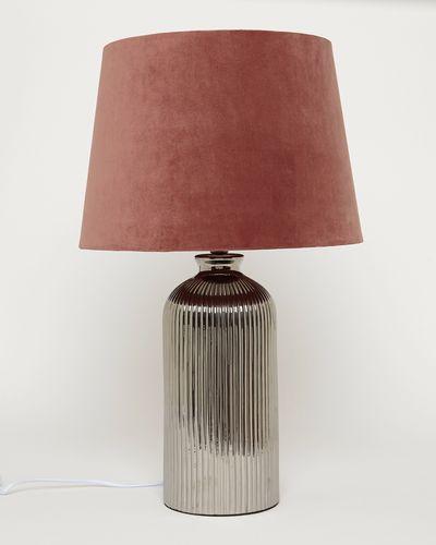 Ribbed Metallic Lamp