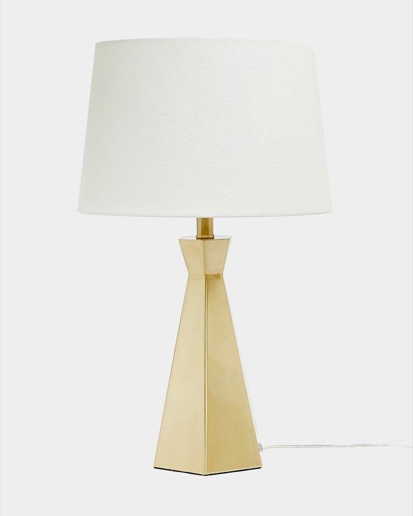 Gold Hexagon Lamp