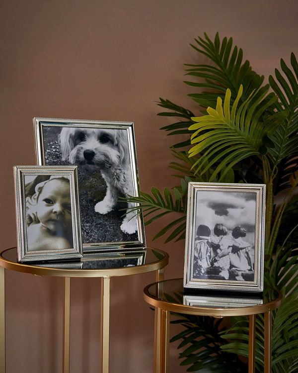 Beaded Edge Silver Picture Frame