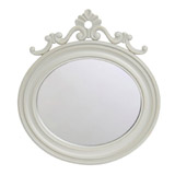 grey Small Oval Mirror With Stand