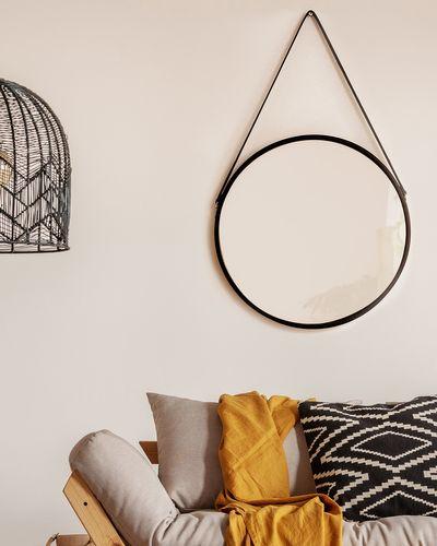 Round Mirror With Strap
