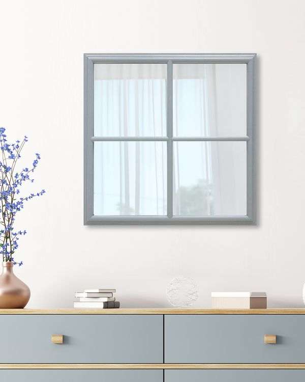 Square Window Pane Mirror