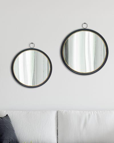 Round Mirror With Hook