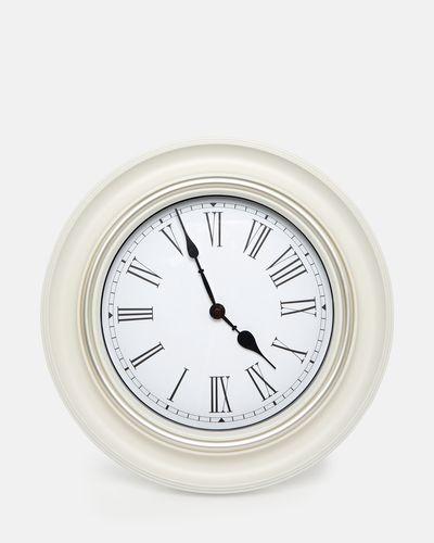 Silver Rim Clock