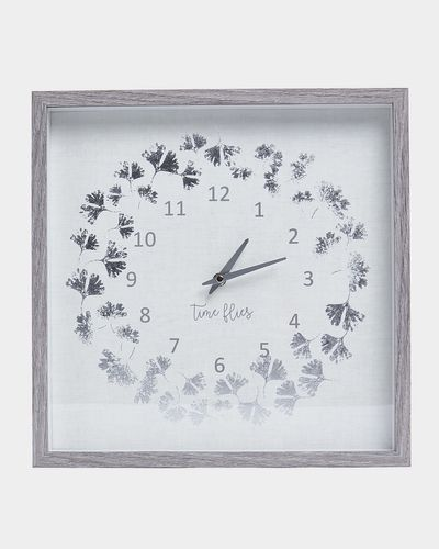 Wooden Square Clock