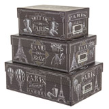 black Paris Chalkboard Photo Box