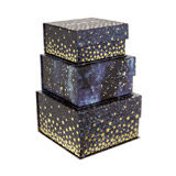 navy Star Square Tab Boxes