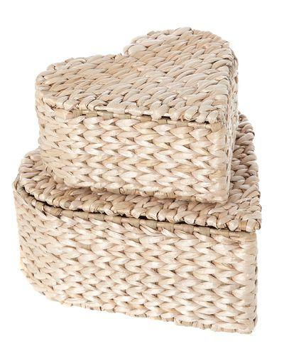 Heart Wicker Basket