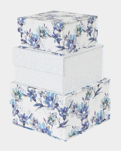 Floral Square Tab Box