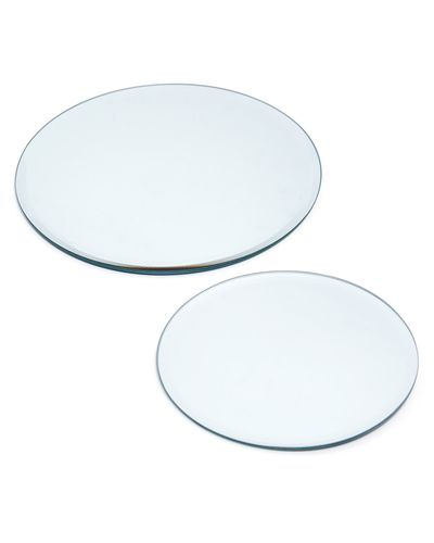 Round Mirror Candle Plate