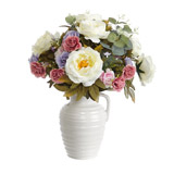 multi Big Bouquet In Ribbed Jug