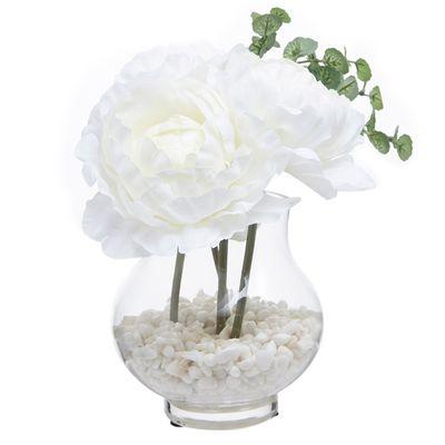 Peony Glass Vase