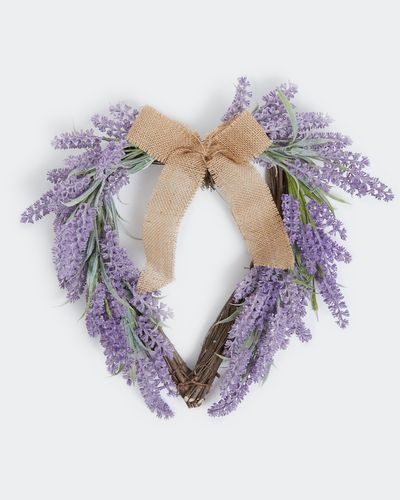 Lavender Heart Wreath thumbnail