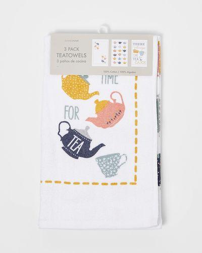 Printed Tea Towels - Pack Of 3
